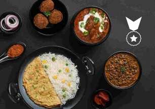 Chicken Rogan Josh Dal Makhani Meatball Combo