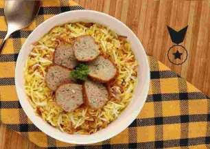 Chicken Salami Flavorful Rice Feast